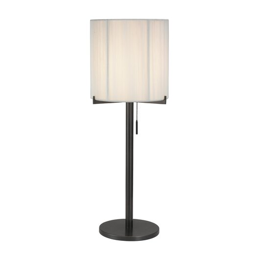 "Sonneman Boxus Round 28"" H Table Lamp with Drum Shade"