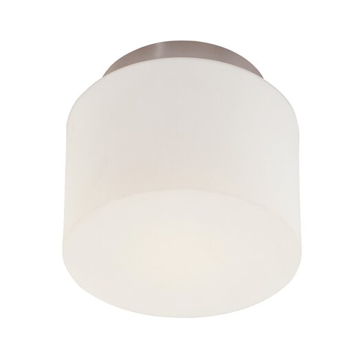 Sonneman 1 Light Drum Semi Flush Mount