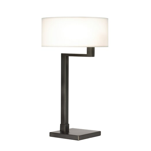 "Sonneman Quadratto Swing Arm 26"" H Table Lamp with Drum Shade"