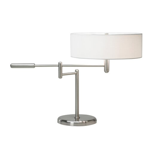 "Sonneman Perno Swing Arm 19"" H Table Lamp with Drum Shade"