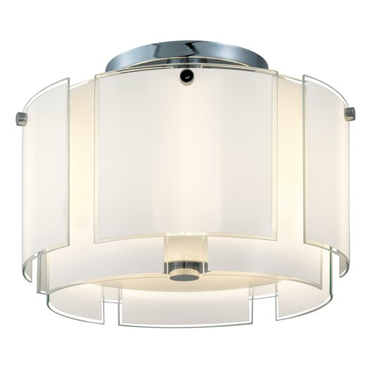 Sonneman Velo 2 Light Semi Flush Mount