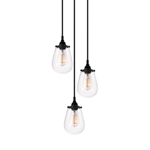 Sonneman Chelsea 3 Light Pendant