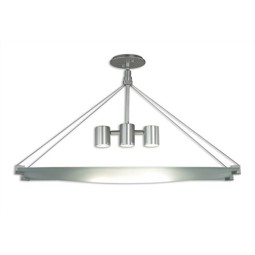 Sonneman Handkerchief 3 Light Rectangle Foyer Pendant