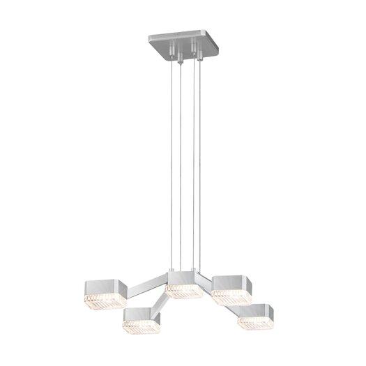 Sonneman Lattice 5 Light Pendant