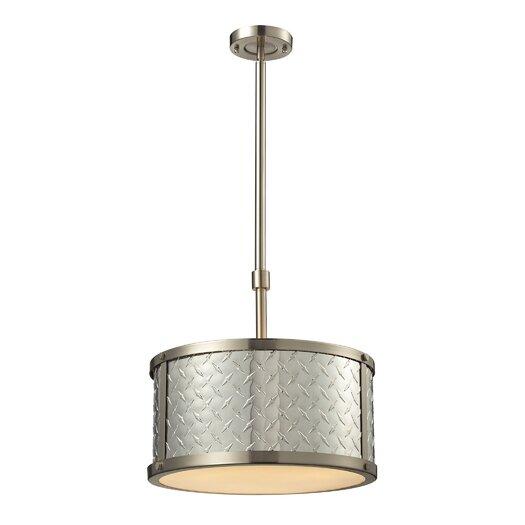 Elk Lighting Diamond Plate 3 Light Drum Pendant