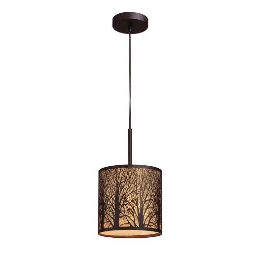 Elk Lighting Woodland Sunrise 1 Light Drum Pendant