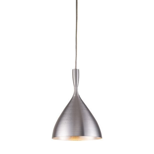 Elk Lighting Spun Aluminum 1 Light Pendant