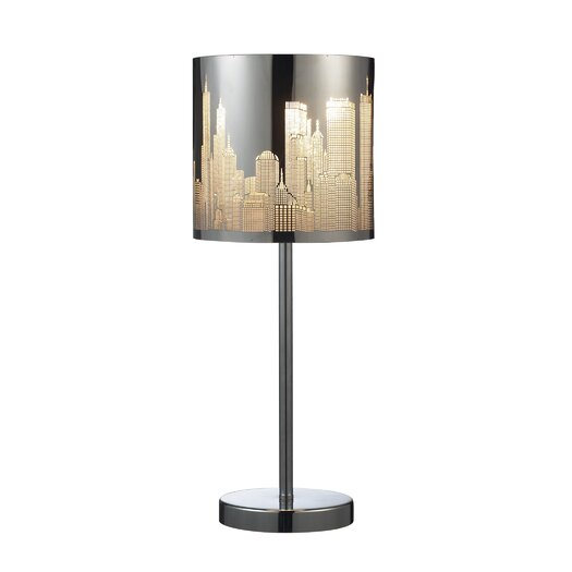 "Elk Lighting Skyline 20"" H Table Lamp with Drum Shade"