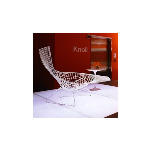 Knoll ® Bertoia Asymmetric Chaise with Seat Pad