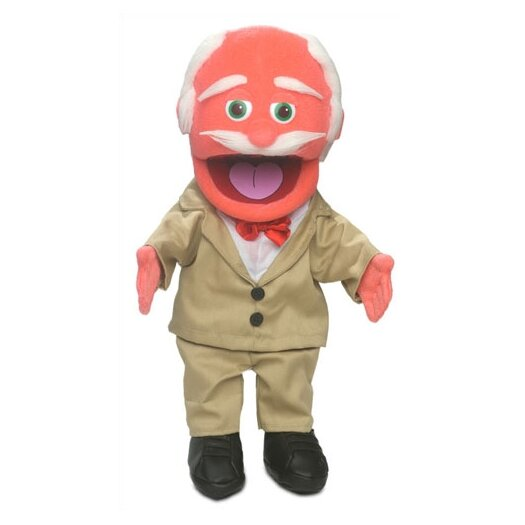 """Silly Puppets 14"""" Pops Glove Puppet in Orange"""