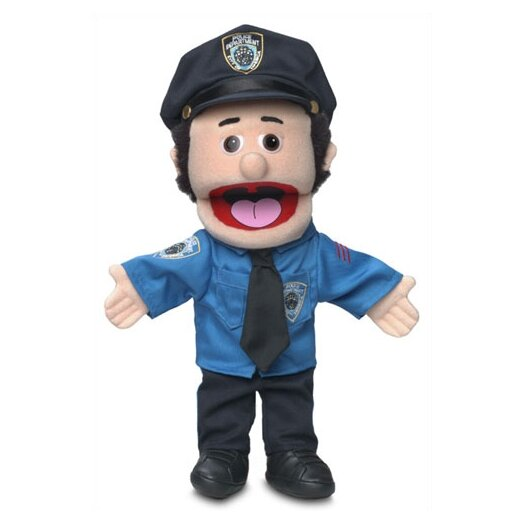 "Silly Puppets 14"" Caucasian Policeman Glove Puppet"