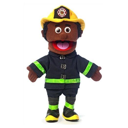"Silly Puppets 14"" African-American Fireman Glove Puppet"