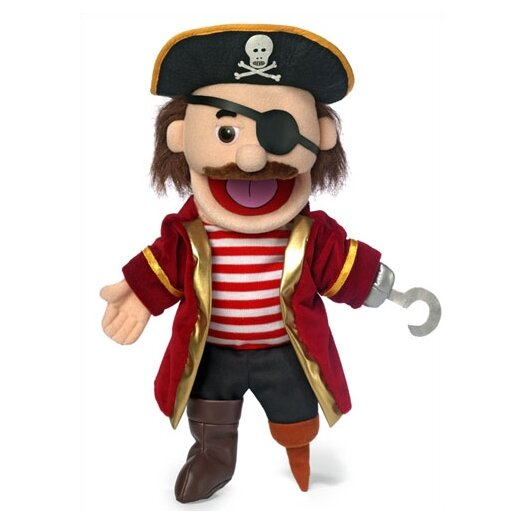 """Silly Puppets 14"""" Pirate Glove Puppet"""