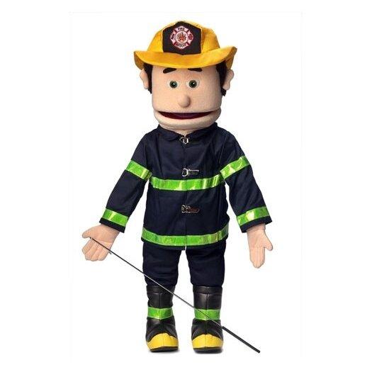 "Silly Puppets 25"" Caucasian Fireman Full Body Puppet"