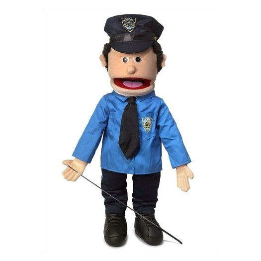"""Silly Puppets 25"""" Caucasian Policeman Full Body Puppet"""