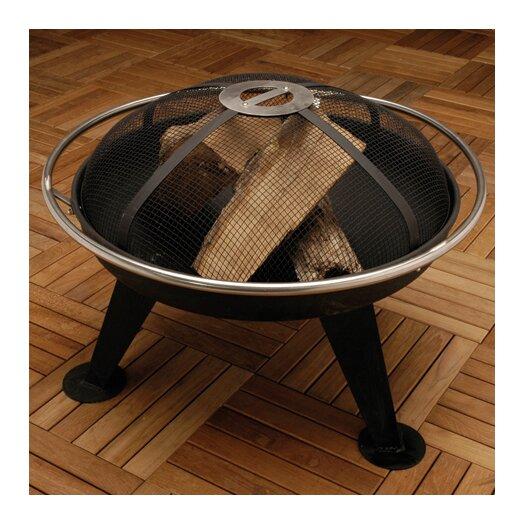 Fire Sense Steel Charcoal / Wood Fire Pit