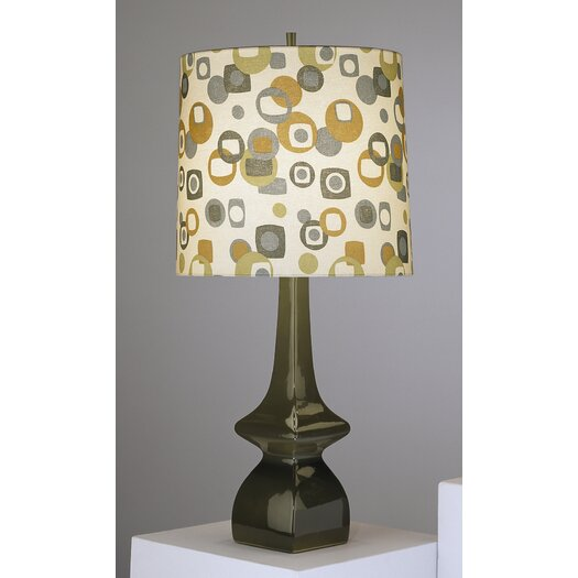 "Robert Abbey Jayne Contemporary 31"" H Table Lamp with Drum Shade"