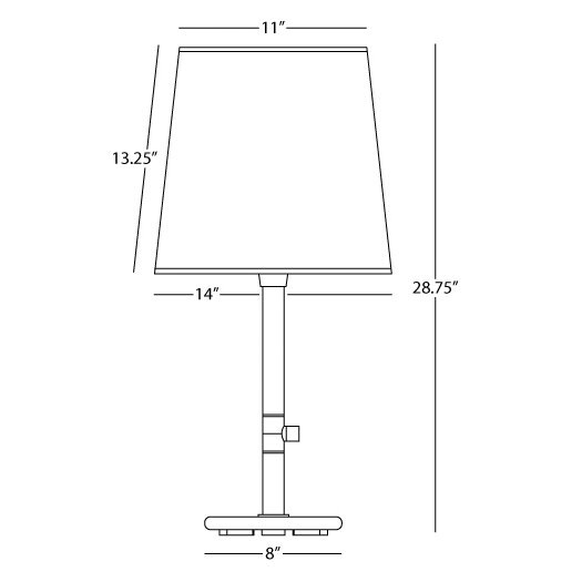 """Robert Abbey Rico Espinet Buster Chica 28.75"""" H Table Lamp with Empire Shade"""