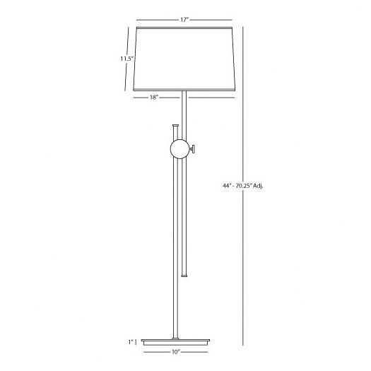Robert Abbey Telescoping Floor Lamp with Disk Housing