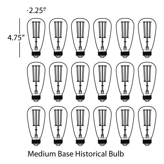 Robert Abbey Candelaria Light Bulb (Pack of 18)