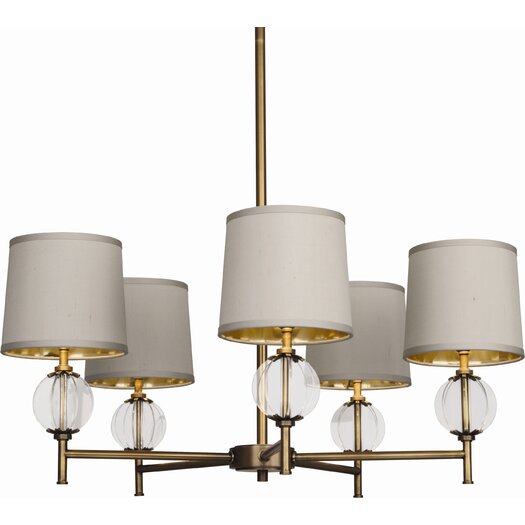 Robert Abbey Latitude 5 Light Chandelier