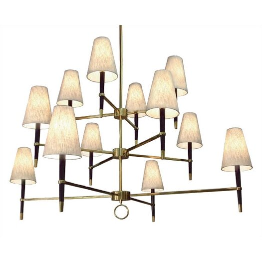 Robert Abbey Jonathan Adler Ventana 12 Light Chandelier