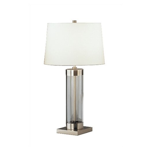"Robert Abbey Andre Square Base 28.75"" H Table Lamp with Empire Shade"