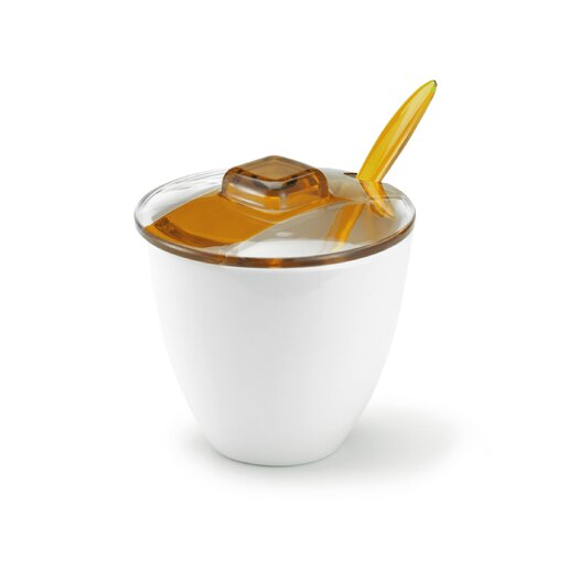 Omada Square Coffee Sugar Bowl with Teaspoon
