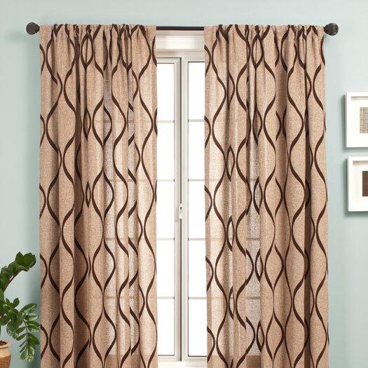 Softline Home Fashions Bali Rod Pocket Curtain Panel