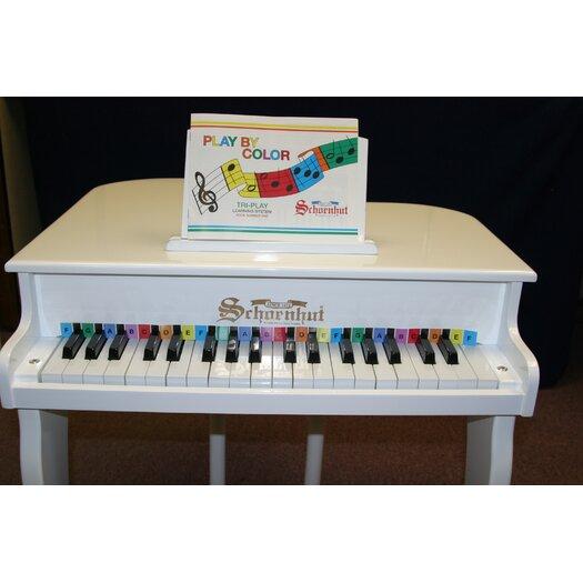 Schoenhut Elite Baby Grand Piano in White