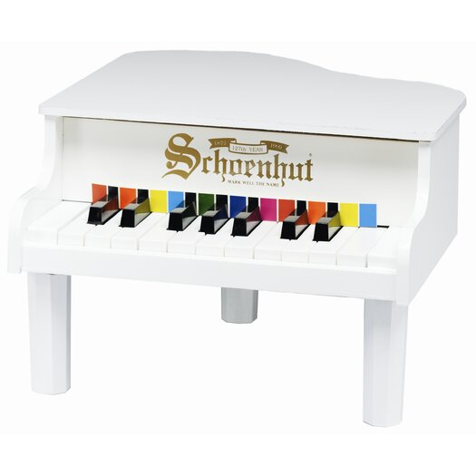 Schoenhut Mini Grand Piano in White