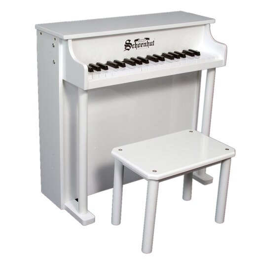 Schoenhut Traditional Deluxe Spinet Piano in White