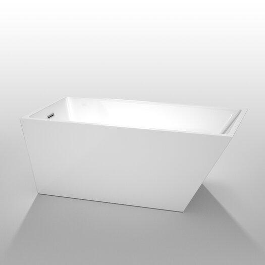 """Wyndham Collection Hannah 59"""" x 29.5"""" Soaking Bathtub"""