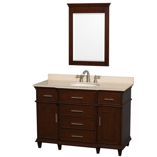 "Wyndham Collection Berkeley 48"" Vanity Set with Single Sink"