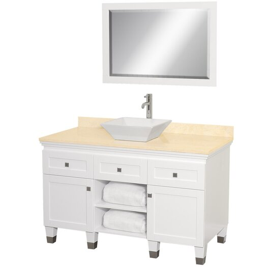 "Wyndham Collection Premiere 48"" Bathroom Vanity Set with Single Sink"
