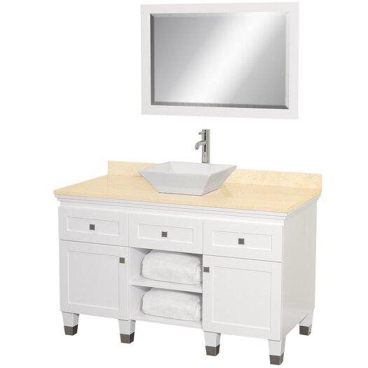 "Wyndham Collection Premiere 48"" Single Bathroom Vanity Set with Mirror"