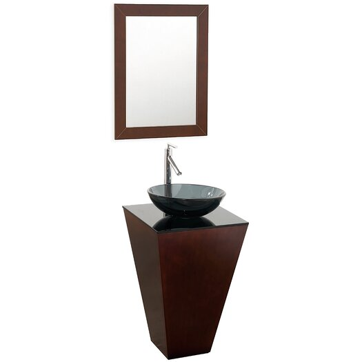 "Wyndham Collection Esprit 20"" Pedestal Bathroom Vanity Set with Single Sink"