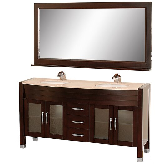 "Wyndham Collection Daytona 63"" Double Bathroom Vanity Set"