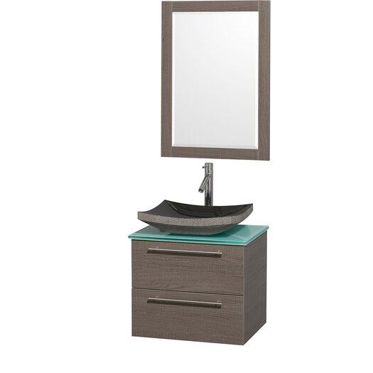 "Wyndham Collection Amare 24"" Bathroom Vanity Set with Single Sink"