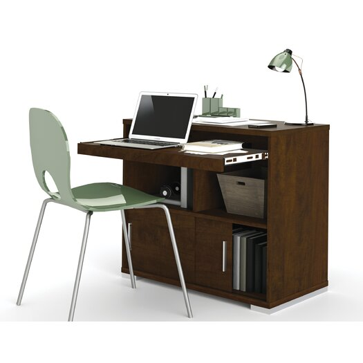 Bestar Connor Credenza Desk with Keyboard Tray