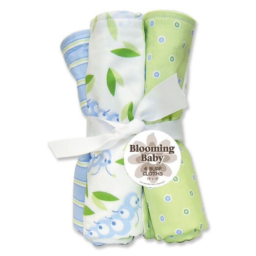 Trend Lab Caterpillar Four Piece Terry Burp Cloth Set