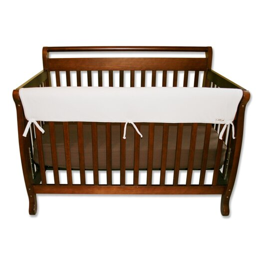 "Trend Lab 51"" White Fleece Front Crib Rail Cover"