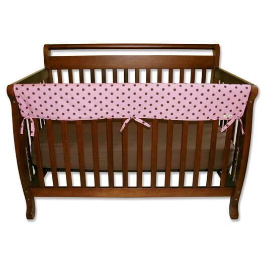 "Trend Lab Maya Dot 51"" Front Crib Rail Cover"