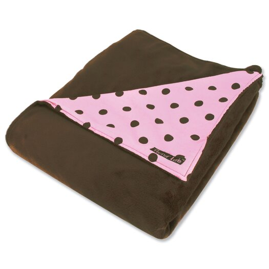 Trend Lab Maya Polka Dot Reversible Velour Baby Blanket