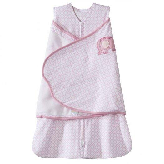 HALO Innovations, Inc. SleepSack Swaddle 100% Cotton, Elephant Embroidery
