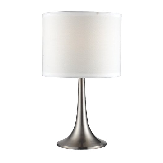 """Z-Lite Portable Modern 18"""" H Table Lamp with Drum Shade"""