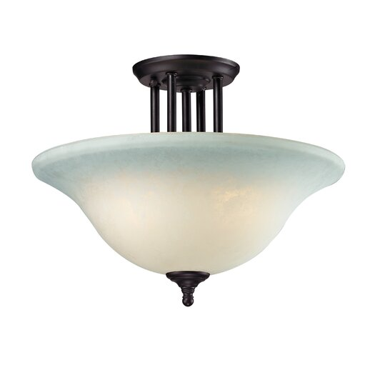 Z-Lite Athena 3 Light Semi-Flush Mount