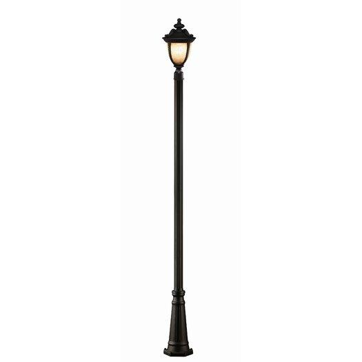 "Z-Lite Winchester 3 Light 114"" Metal Outdoor Post Lantern Set"