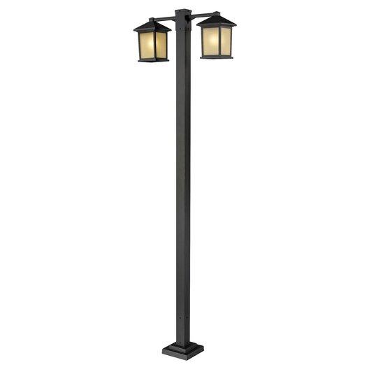 "Z-Lite Holbrook 2 Light 99"" Outdoor Post Lantern Set"