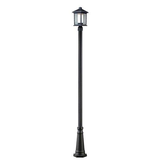 Z-Lite Mesa 1 Light Aluminum Outdoor Post Lantern Set